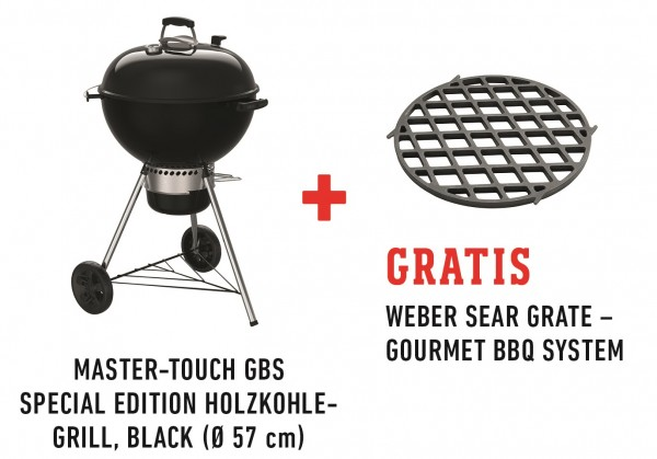Weber Master-Touch GBS 57cm , Black Special Edition Pro inkl. Sear Grate