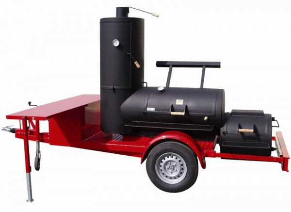 "Joe's 24"" Chuckwagon Catering Smoker Trailer"